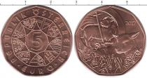Продать Монеты Австрия 5 евро 2017 Медь