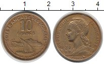 Каталог монет - монета  Сомали 10 франков