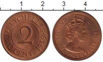 Каталог монет - монета  Сейшелы 2 цента