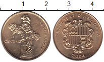 Каталог монет - монета  Андорра 5 сентим