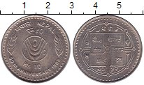 Каталог монет - монета  Непал 10 рупий