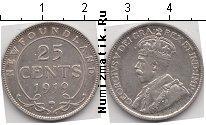 Каталог монет - монета  Ньюфаундленд 25 центов