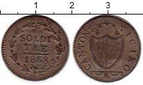 Каталог монет - монета  Тичино 3 сольди