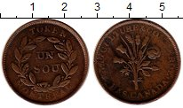 Каталог монет - монета  Канада 1 соу