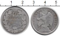 Каталог монет - монета  Чили 40 сентаво