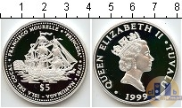 Каталог монет - монета  Тувалу 5 долларов
