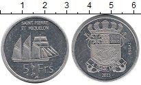 Каталог монет - монета  Сен-Пьер и Микелон 5 франков