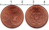 Каталог монет - монета  Ватикан 5 евроцентов