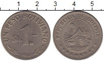 Каталог монет - монета  Боливия 1 песо