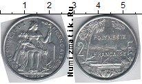 Каталог монет - монета  Полинезия 2 франка