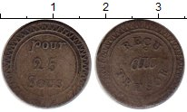 Каталог монет - монета  Маврикий 25 су