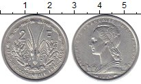 Каталог монет - монета  Французская Западная Африка 2 франка