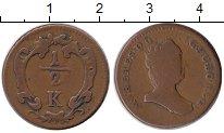 Каталог монет - монета  Австрия 1/2 крейцера