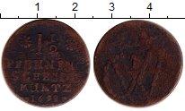 Каталог монет - монета  Саксония 1 1/2 пфеннига