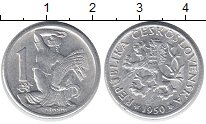 Каталог монет - монета  Чехословакия 1 хеллер