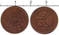 Каталог монет - монета  Чехословакия 20 геллеров