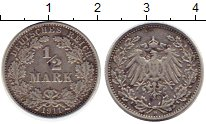 Каталог монет - монета  Третий Рейх 1/2 марки