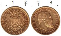 Каталог монет - монета  Вюртемберг 20 марок
