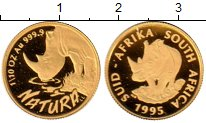 Каталог монет - монета  ЮАР 1/10 унции