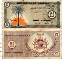 Продать Банкноты Биафра 1 фунт 1967