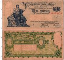 Продать Банкноты Аргентина 1 песо 1952