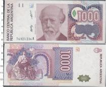 Продать Банкноты Аргентина 1000 песо 1988