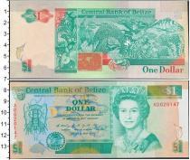 Продать Банкноты Белиз 1 доллар 1990