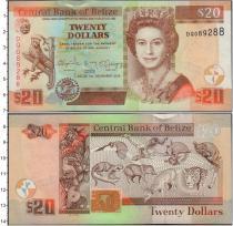 Продать Банкноты Белиз 20 долларов 2014