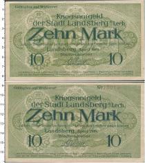 Продать Банкноты Веймарская республика 10 марок 1919