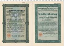 Продать Банкноты Веймарская республика 1000 марок 1925