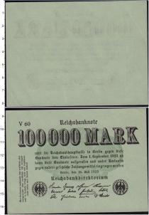 Продать Банкноты Веймарская республика 100000 марок 1923