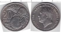 Каталог монет - монета  Самоа 20 Сене
