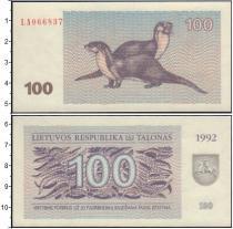 Продать Банкноты Литва 100 талонов 1992