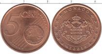 Каталог монет - монета  Монако 5 евроцентов
