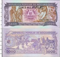 Продать Банкноты Мозамбик 5000 метикаль 1989