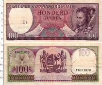 Продать Банкноты Суринам 100 гульденов 1963
