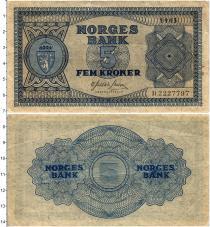 Продать Банкноты Норвегия 5 крон 1945