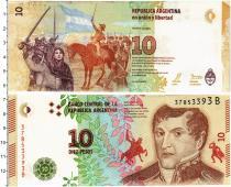 Продать Банкноты Аргентина 10 песо 2017