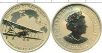 Продать Подарочные монеты Австралия 1 доллар 2019 Латунь