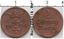 Каталог монет - монета  Данциг 2 пфеннига