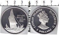 Продать Монеты Каймановы острова 5 долларов 1988 Серебро