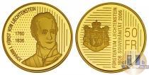 Каталог монет - монета  Лихтенштейн 50 франков