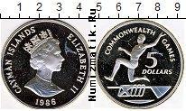 Продать Монеты Каймановы острова 5 долларов 1986 Серебро