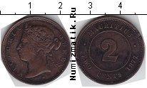 Каталог монет - монета  Маврикий 2 цента