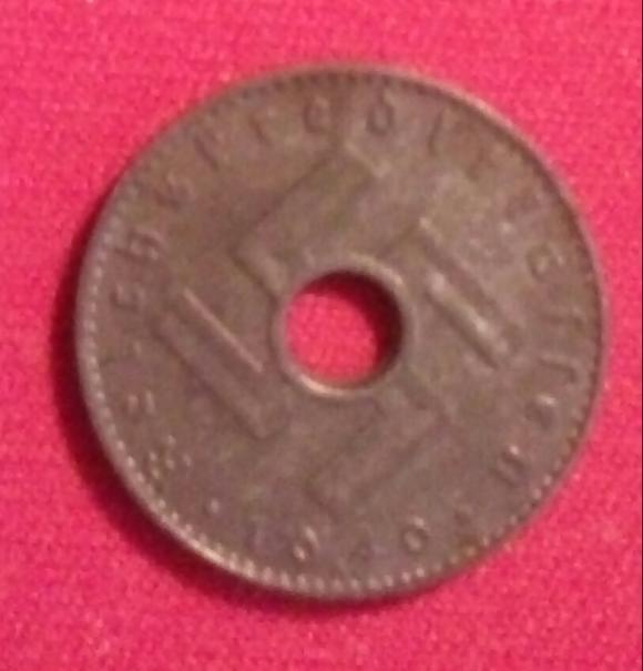 """Предлагаю монеты 5 и 10 рейспфеннигов 1940 г. """"А"""" -монетный двор Берлин.""""Reichskredit"""