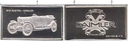 Серебренные жетоны! К 100летию автомобиля! 100 марок автомобилей-по штучно.