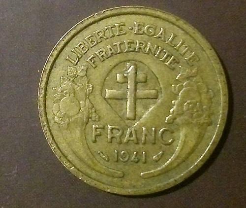 """Ищу информацию по монете.""""Номинал"""" на этом франке?Что это?"""