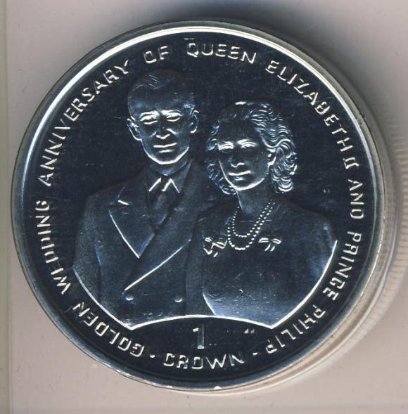 Монета государства Гибралтар- 1 крона 1997г