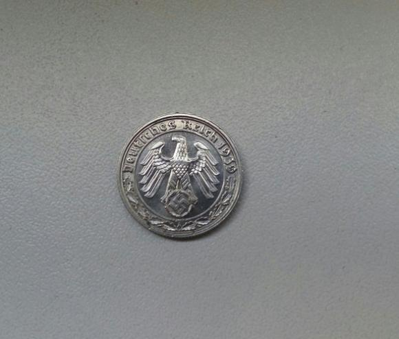 Предлагаю редкую монету времен 3 рейха 50 рейхспфеннигов 1939 года, материал -никель , монетный двор