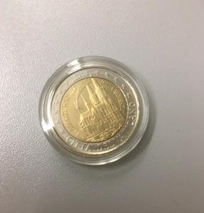 """Редкая монета Ватикана 2 евро 2005 """"День молодежи в Кельне"""". Монета без папки, в капсуле."""
